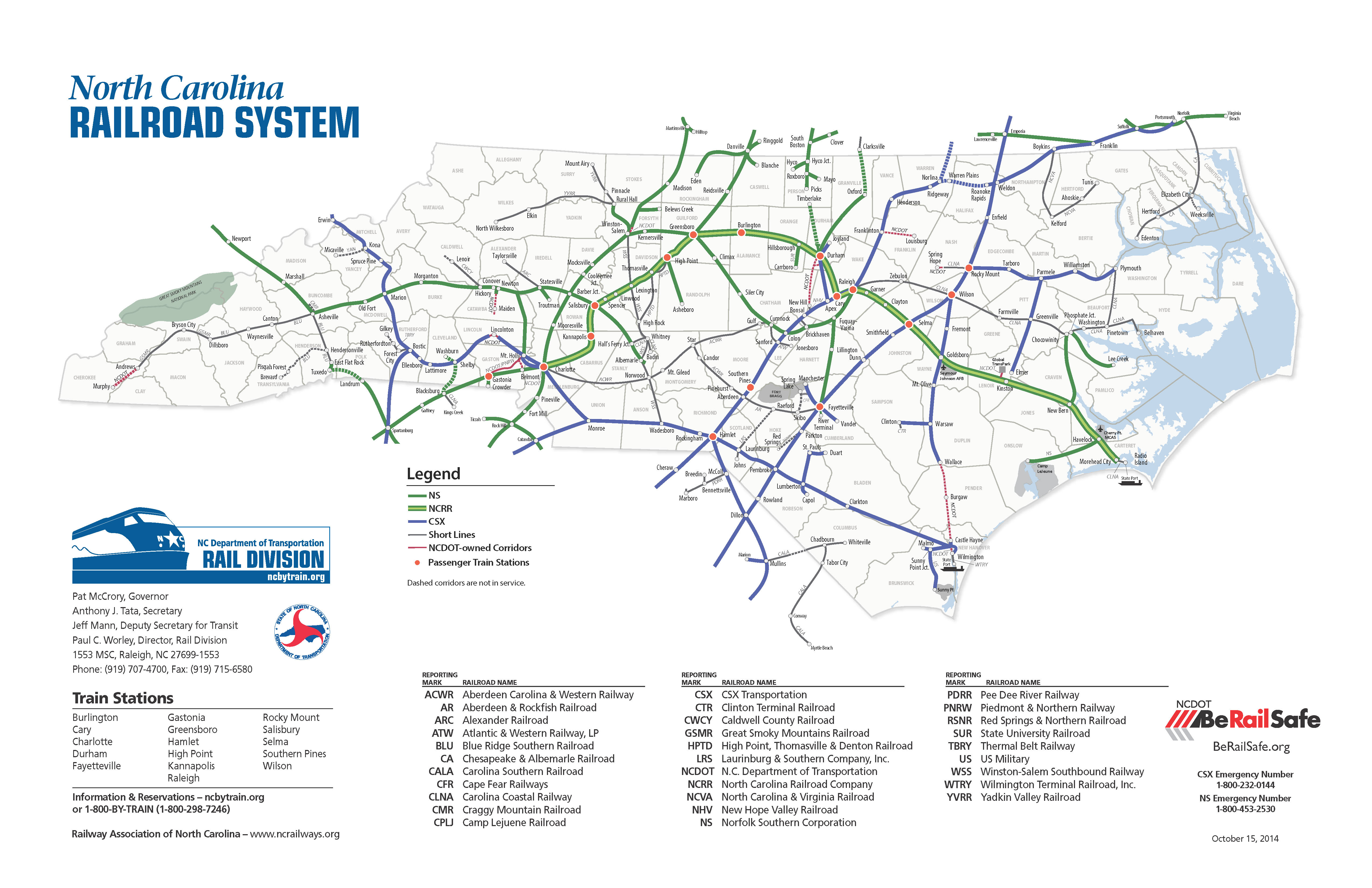 Interstate  Extension NC - Us railroad traffic map